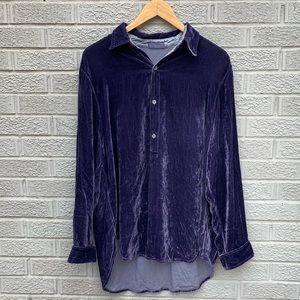 CP Shades Velvet Purple Popover Top